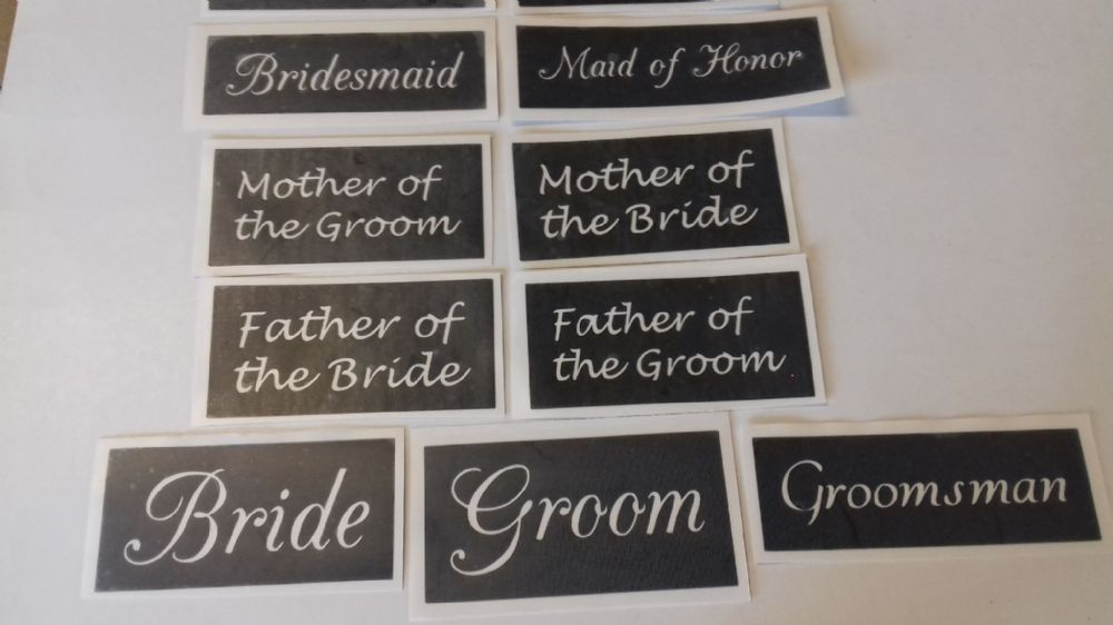 Wedding Word Stencils Mix For Etching On Glass Favor